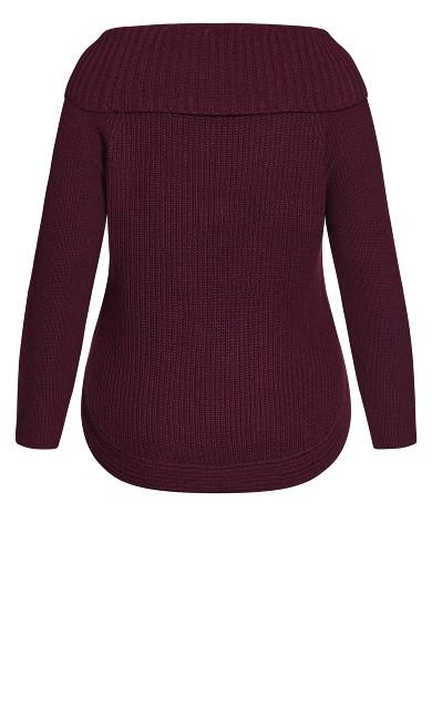 Scoop Me Up Sweater - plum