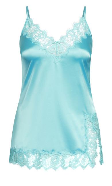 Stella Satin Chemise - aqua blue