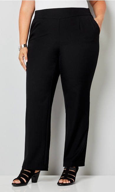 Luxe Cool Hand Slimming Pull-On Pant Black - average