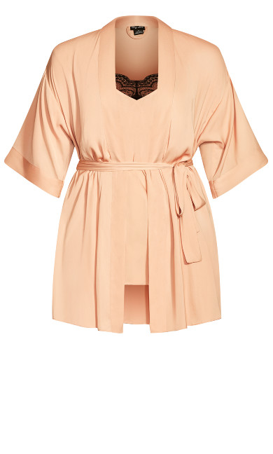 Chemise And Robe Set - champagne