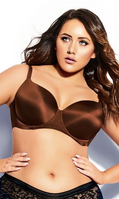 Women's Plus Size Smooth & Chic T-Shirt Bra - cinnamon