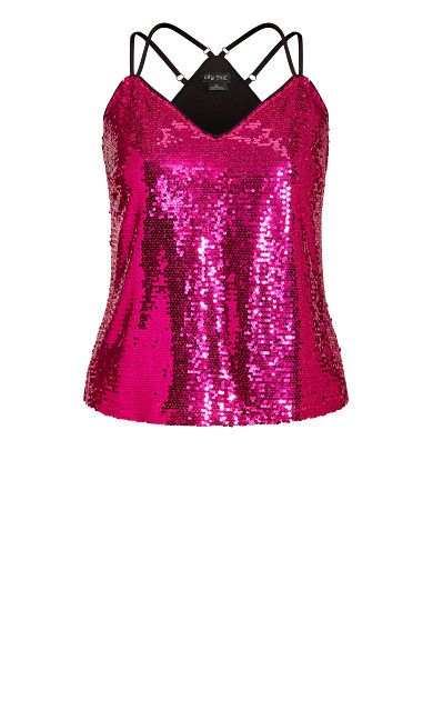 Glimmer Top - hot pink