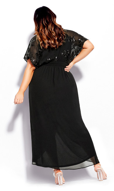 Sequin Glitz Maxi Dress - black