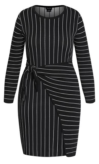 Stripe Sweater Dress - black