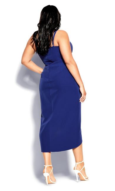 Sassy Notch Neck Dress - lapis