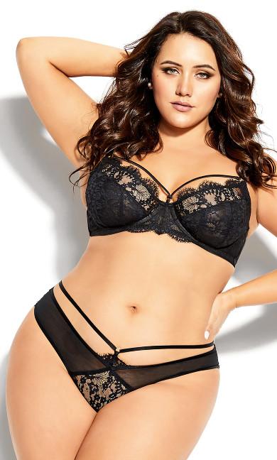 Plus Size Delores Thong - black