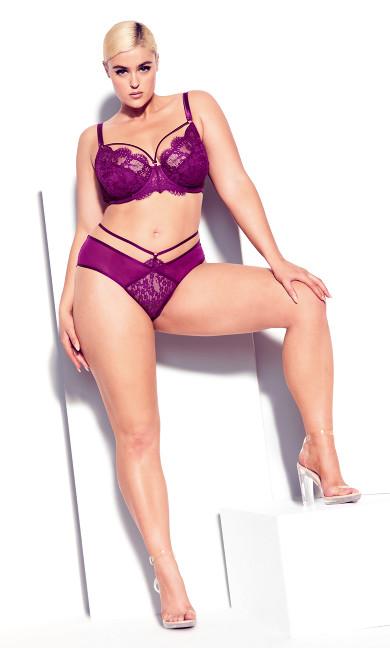 Plus Size Hot Pink Lace Shorty