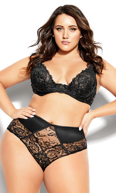 Plus Size Abby Underwire Bra - black