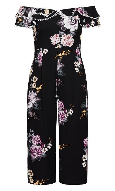 Love Blooms Jumpsuit - black