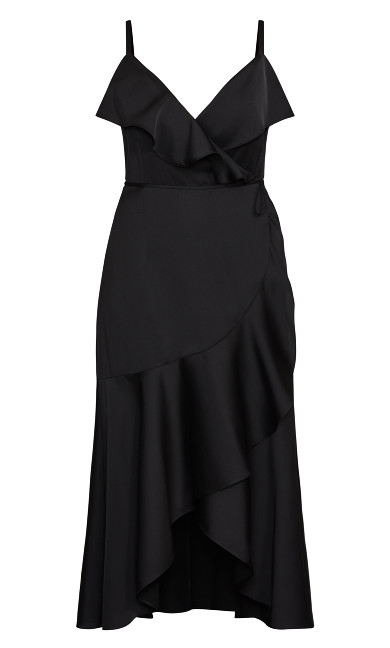 Ruffle Amore Maxi Dress - black