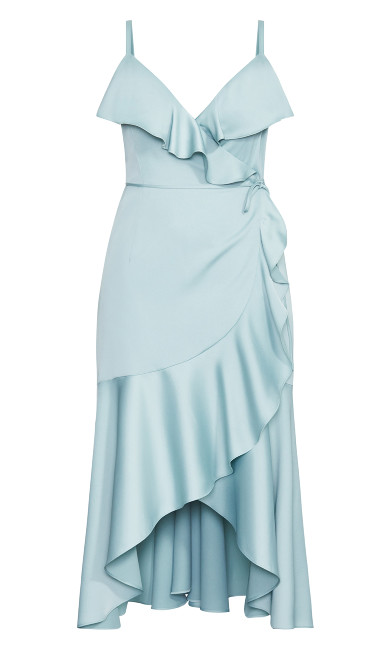 Ruffle Amore Maxi Dress - seafoam