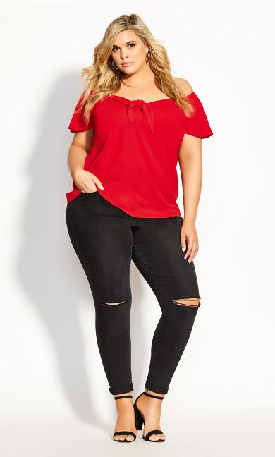Sass Twist Top - red
