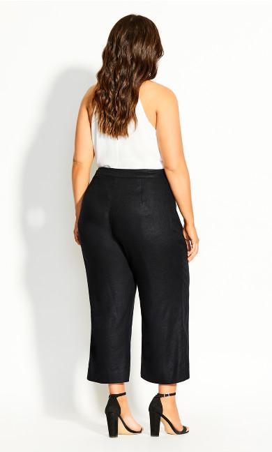Linen Culotte Pant - black
