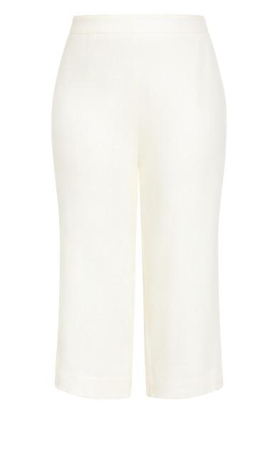 Linen Culotte Pant - ivory