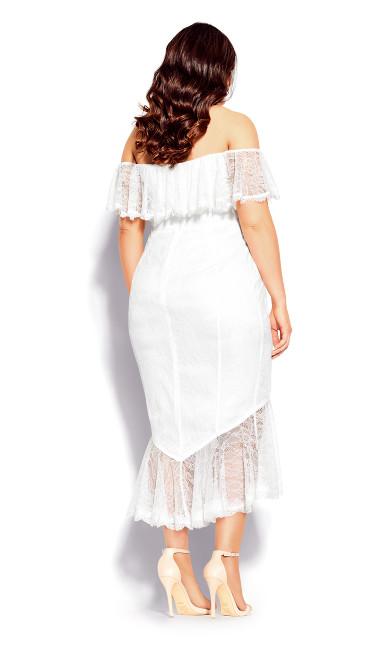Lace Violet Dress - ivory