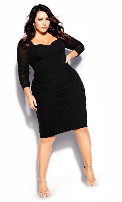 Plus Size Sexy Bustier Dress - black