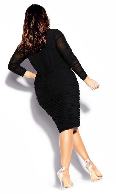 Sexy Bustier Dress - black