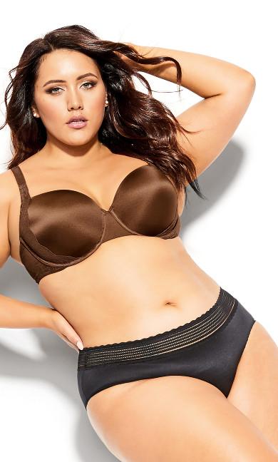 Plus Size Sexy Glam Balconette T-Shirt Bra - cinnamon