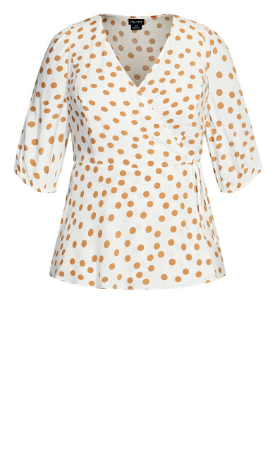 Golden Spot Top - ivory