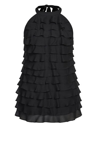 Waterfall Dress - black