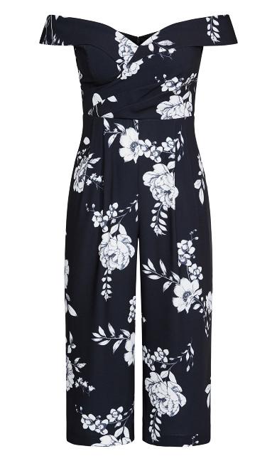 Serene Floral Jumpsuit - black