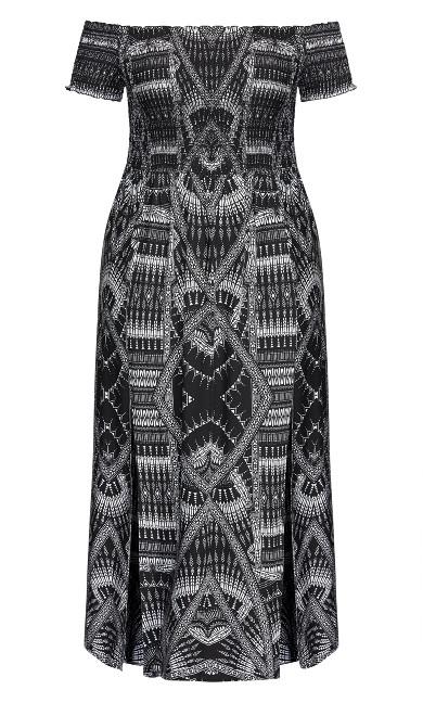 Tribal Queen Maxi Dress - black