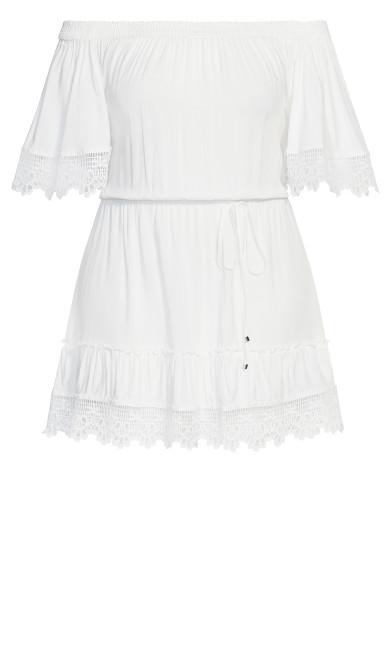 Crochet Detail Dress - ivory