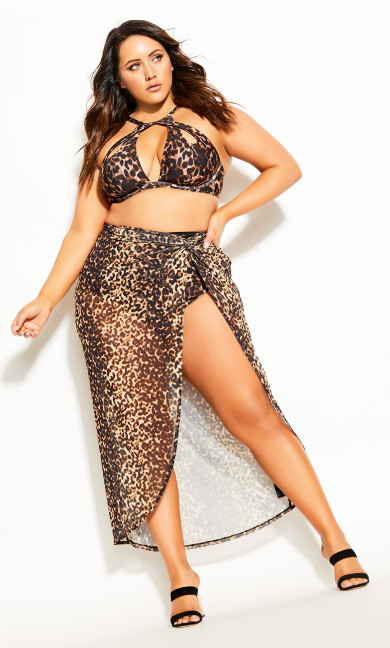 Women's Plus Size Cancun Skirt - leopard