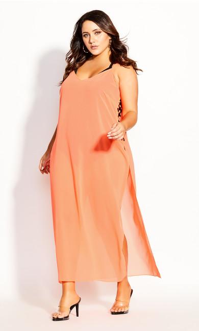 Women's Plus Size Miami Maxi Dress - neon pink