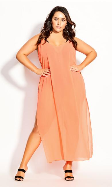 Miami Maxi Dress - neon pink
