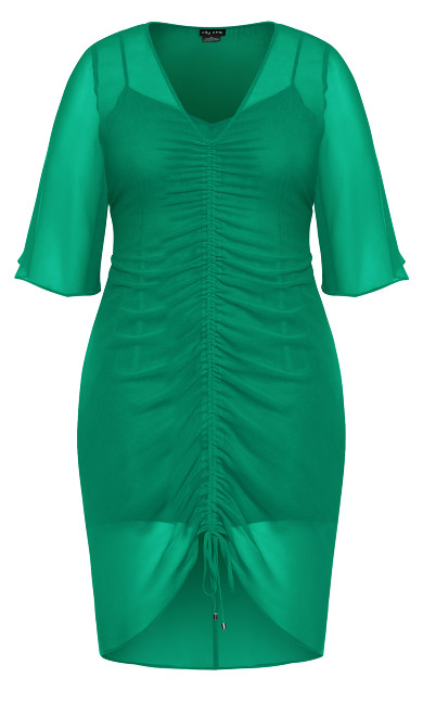 Drawn Up Dress - green
