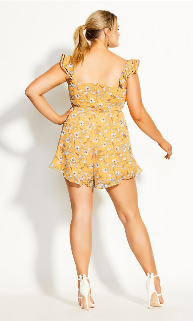 Amber Floral Playsuit - amber