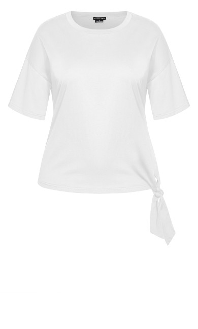 Love Tie Top - ivory