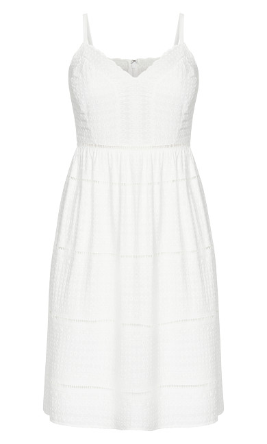 Precious Embroidered Dress - ivory