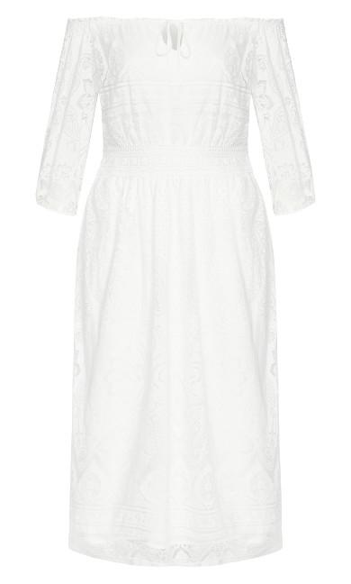 Precious Detail Dress - ivory