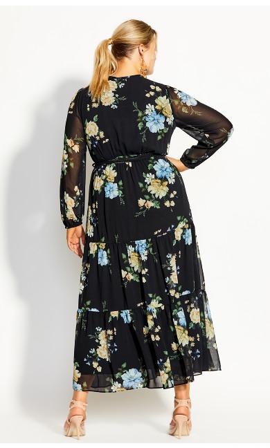 Fair Floral Maxi Dress - black