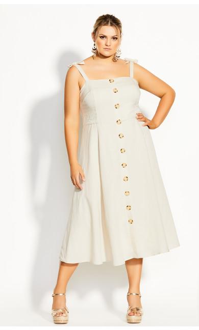 Precious Bow Dress - oatmeal