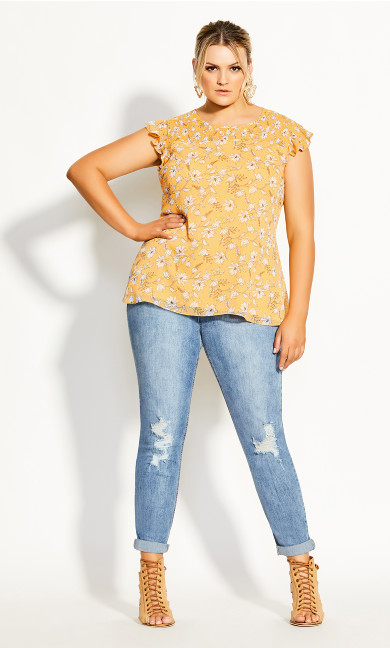 Amber Floral Top - amber
