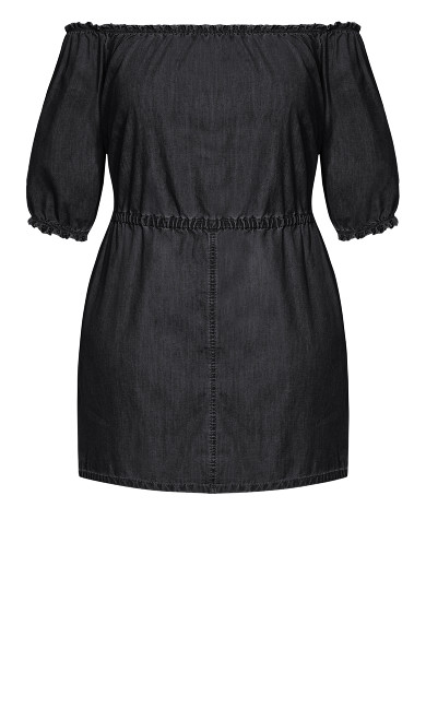 Denim Heart Dress - black
