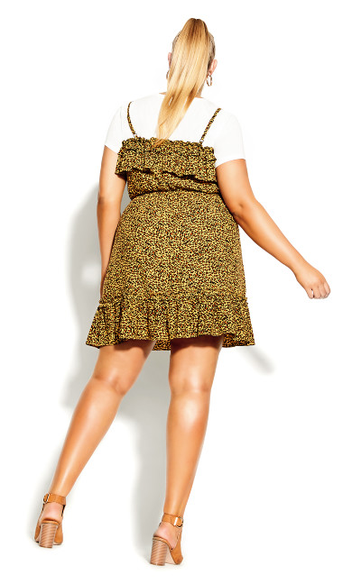 Baby Animal Dress - ochre