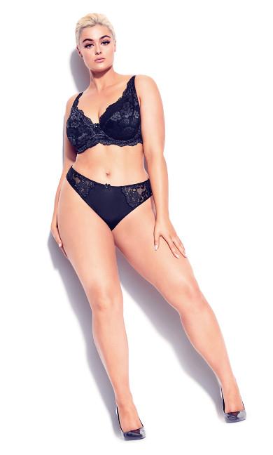Plus Size Darcie Underwire Lace Bra - black