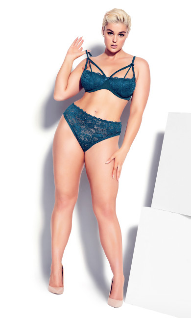 Olivia Strappy Lace Bra - poseidon