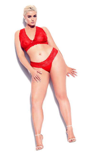 Plus Size Zoey Bralette - red