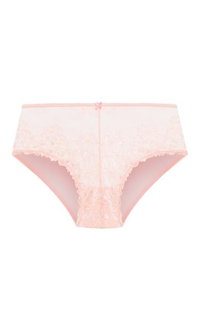 Plus Size Cosette Lace Hipster - blush