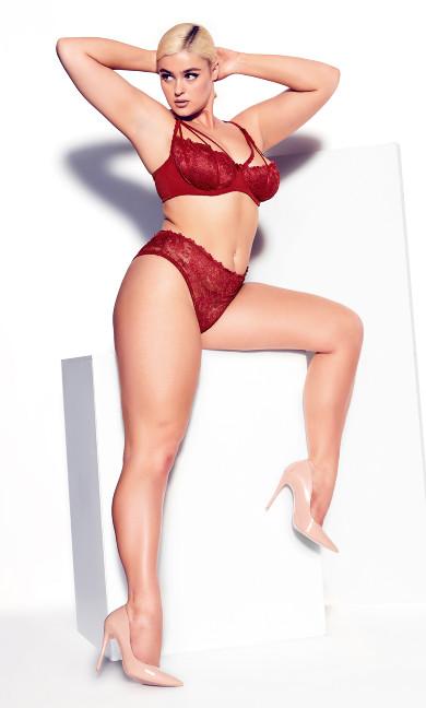 Olivia Strappy Panty - shiraz