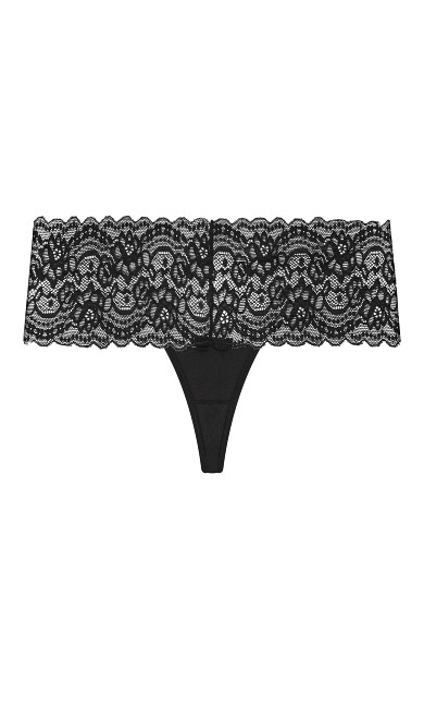 Plus Size Everyday Sexy Thong - black
