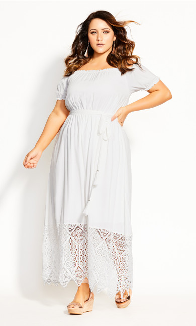 Angelic Maxi Dress - ivory