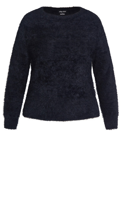 Fluffy Sweater - black