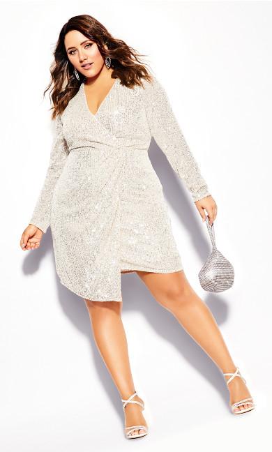 Plus Size Razzle Dress - beige