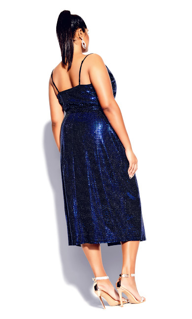 Disco Fever Dress - electric blue